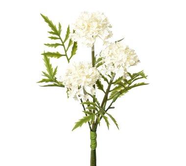 Kunstblume Schneeball-Bouquet, 4er Set, weiß,...