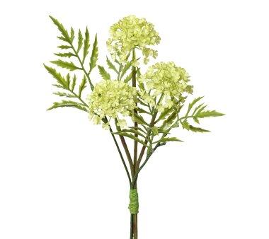 Kunstblume Schneeball-Bouquet, 4er Set, grün,...