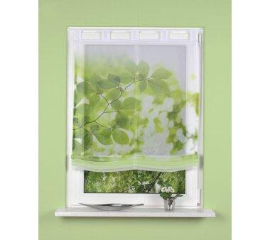 Raffrollo mit Schlaufen transparent LEAVES BxH 120 x 140...