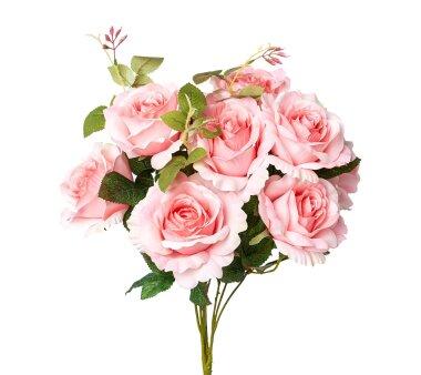 Kunstblume Rosenbusch, rosa, Höhe ca. 50 cm