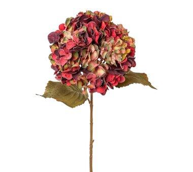 Kunstblume Hortensie, 2er Set, bunt, Höhe ca. 65 cm