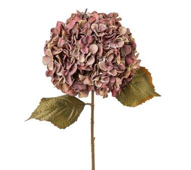 Kunstblume Hortensie, 2er Set, mauve, Höhe ca. 65 cm