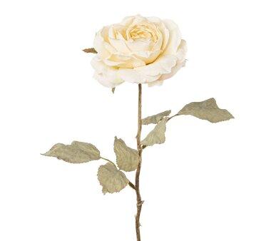 Kunstblume Rose, 3er Set, creme, Höhe ca. 56 cm
