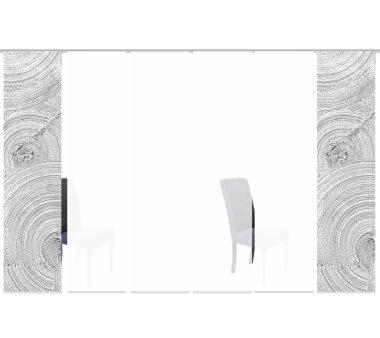 6er-Set Schiebevorhänge JULIANA blickdicht, Höhe 245 cm, grau