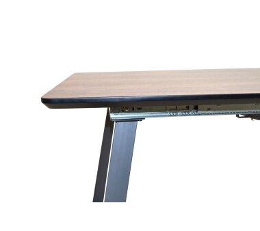 Esstisch 8804, ausziehbar, Holzdekor braun, 160-200x90x75 cm