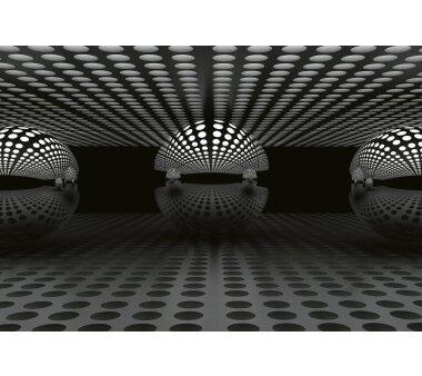 AS Creation Vlies-Fototapete 3D SPHERE SILVER 118903, 8...