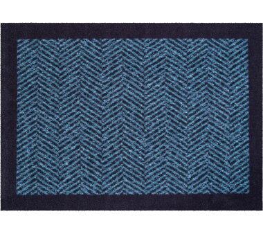 GRUND Allroundteppich-Serie HERRINGBONE, Farbe blau