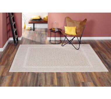 Flachgewebe-Teppich RAYON, Farbe beige