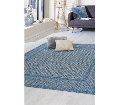 Flachgewebe-Teppich RAYON, Farbe blau
