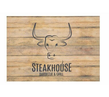 Barbecue-Matte STEAKHOUSE HOLZ, Höhe 3 mm, Farbe...