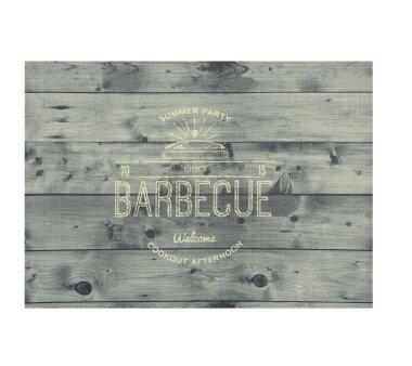 Barbecue-Matte BARBECUE HOLZ, Höhe 3 mm, Farbe grau,...
