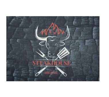 Barbecue-Matte STEAKHOUSE, Höhe 3 mm, Farbe schwarz,...