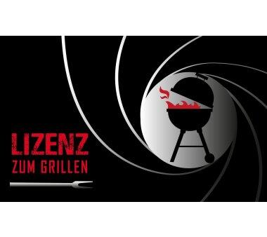 Barbecue-Matte LIZENZ ZUM GRILLEN, Höhe 3 mm, Farbe...