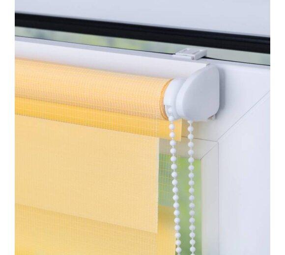 doppelrollo gelb 80x200 cm klemmfix ohne bohren kaufen. Black Bedroom Furniture Sets. Home Design Ideas