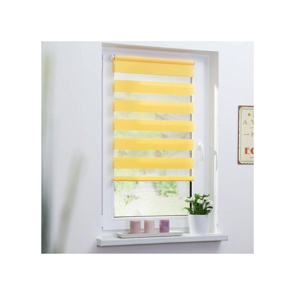 duo rollo doppel rollo gelb 110x150 cm kaufen. Black Bedroom Furniture Sets. Home Design Ideas