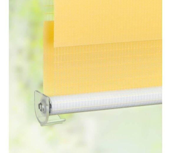 doppelrollo gelb 110x150 cm kaufen bei wohnfuehlidee. Black Bedroom Furniture Sets. Home Design Ideas