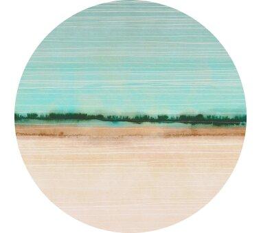 Vlies-Fototapete KOMAR, DOTS BEACHSIDE, selbstklebend, 1 Teil, Ø 125 cm