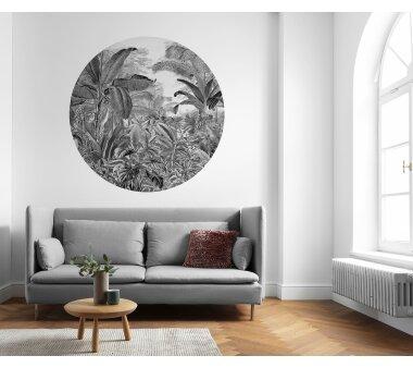 Vlies-Fototapete KOMAR, DOTS WILD WOODS, selbstklebend, 1 Teil, Ø 125 cm