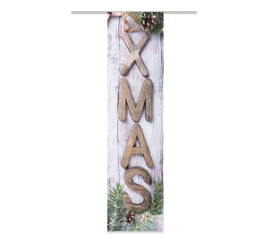 Schiebevorhang 3er Set XMAS, braun, (54144)...