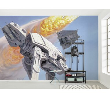 Vlies-Fototapete KOMAR STAR WARS CLASSIC RMQ HOTH BATTLE AT-AT, 10 Teile, BxH 500 x 250 cm
