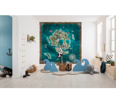 Vlies-Fototapete KOMAR ADVENTURE SKULL ISLAND, 5 Teile, BxH 250 x 250 cm