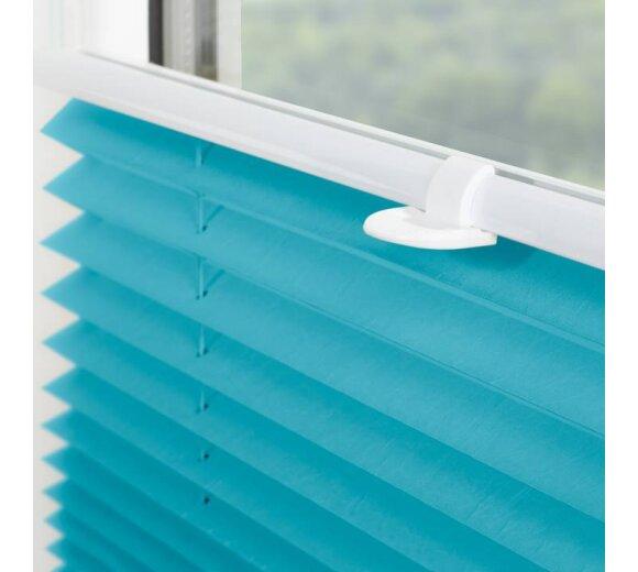 plissee faltstore blau 60x130 cm verspannt. Black Bedroom Furniture Sets. Home Design Ideas