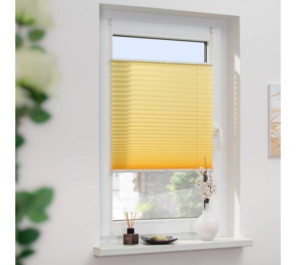 Plissee Faltstore Gelb 60x130 Cm Verspannt