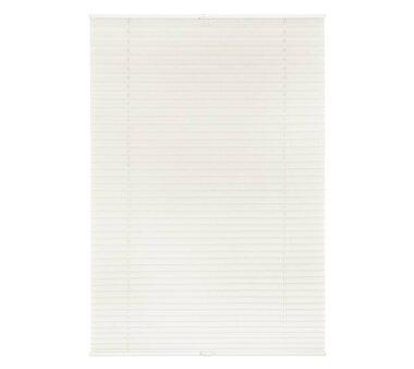 Lichtblick Plissee Klemmfix, ohne Bohren, verspannt - Weiß 70 cm x 130 cm (B x L)
