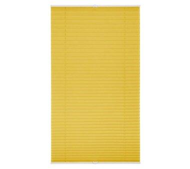 Lichtblick Plissee Klemmfix, ohne Bohren, verspannt - Gelb 70 cm x 130 cm (B x L)