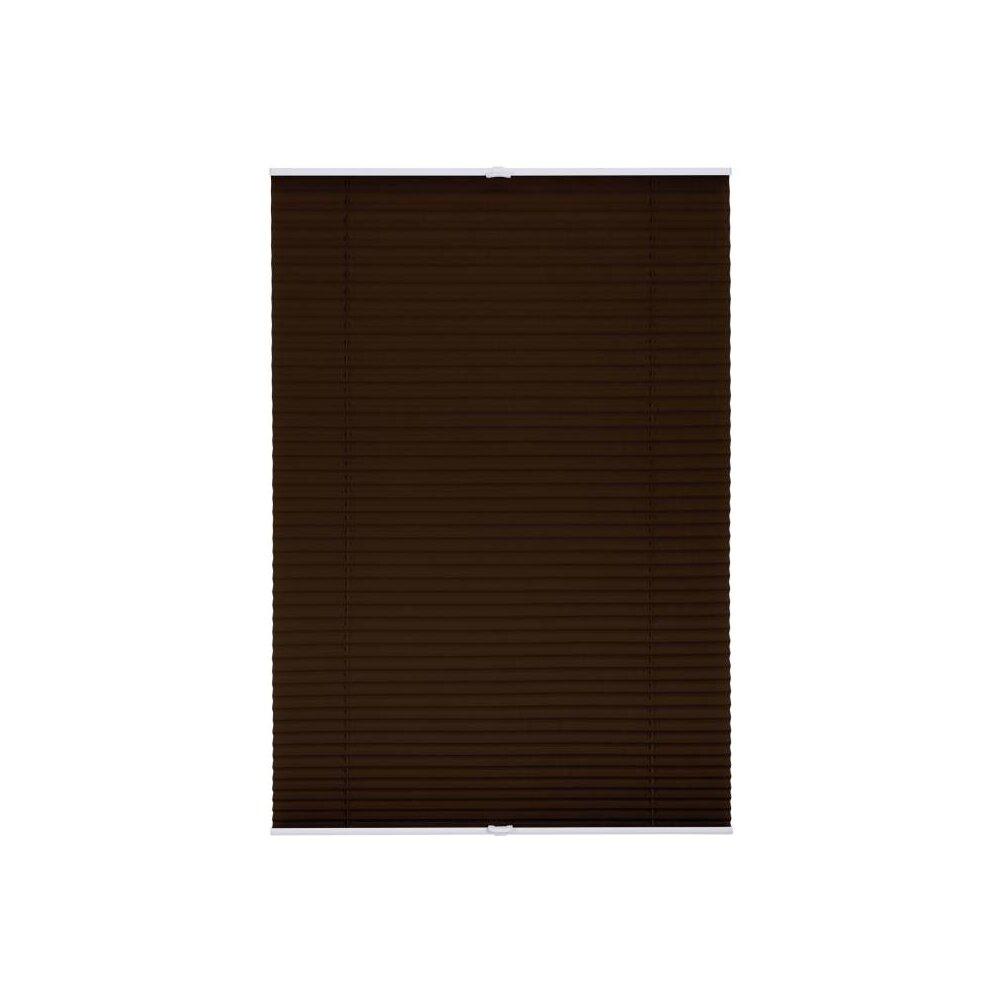 plissee faltstore braun 80x130 cm verspannt. Black Bedroom Furniture Sets. Home Design Ideas