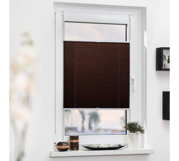 plissee thermo braun 80x130 cm lichblick. Black Bedroom Furniture Sets. Home Design Ideas