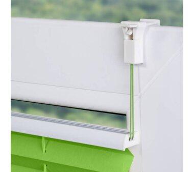 Lichtblick Plissee Klemmfix, ohne Bohren, verspannt - Grün 80 cm x 210 cm (B x L)