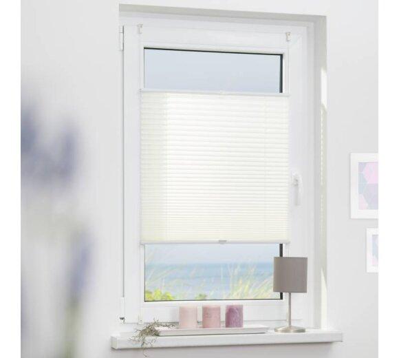 gardinia plissee wei 90x210 cm bei wohnfuehlidee kaufen. Black Bedroom Furniture Sets. Home Design Ideas