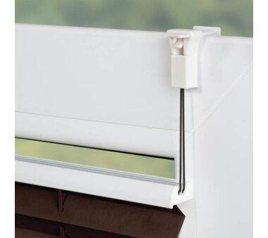 Lichtblick Plissee Klemmfix, ohne Bohren, verspannt - Braun 90 cm x 210 cm (B x L)