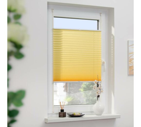 plissee top gelb 100x130 cm verspannt lichblick. Black Bedroom Furniture Sets. Home Design Ideas
