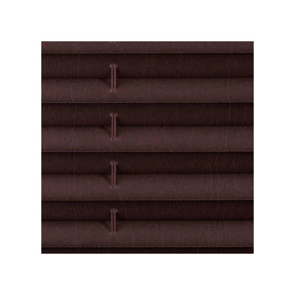 plissee faltstore braun 120x130 cm verspannt. Black Bedroom Furniture Sets. Home Design Ideas