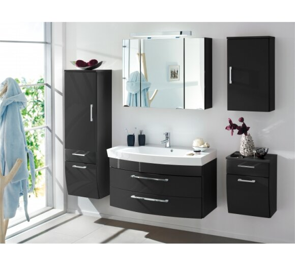 bad hochschrank florenz anthrazit geschwungen 1 trg. Black Bedroom Furniture Sets. Home Design Ideas