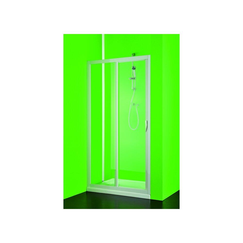nischentr nischendusche schiebesystem maestro acryl glas geperlt kunststoff fb weiss - Dusche Aus Glas Oder Kunststoff