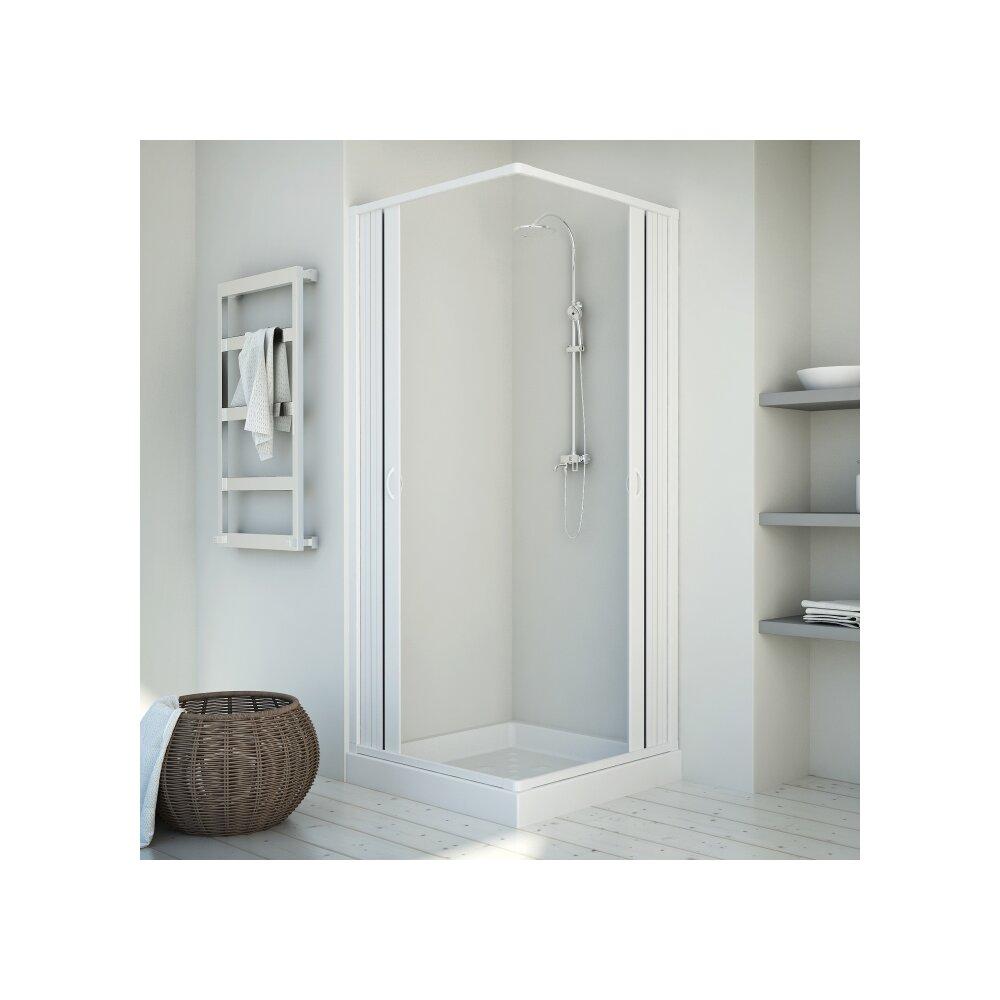 duschkabine eckeinstieg kappa wei online bei wohnfuehlidee kaufen. Black Bedroom Furniture Sets. Home Design Ideas