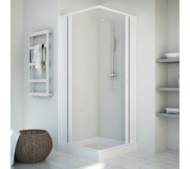 Duschkabine, Eckeinstieg, Falttürsystem, KAPPA, PVC...