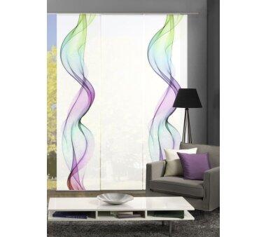 fl chenvorh nge 4er set alberta bunt blickdicht. Black Bedroom Furniture Sets. Home Design Ideas
