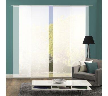 schiebegardine 6er set rom wei transparent g nstig. Black Bedroom Furniture Sets. Home Design Ideas