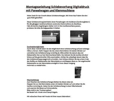 4er-Set Schiebevorhang ROM transparent uni weiss