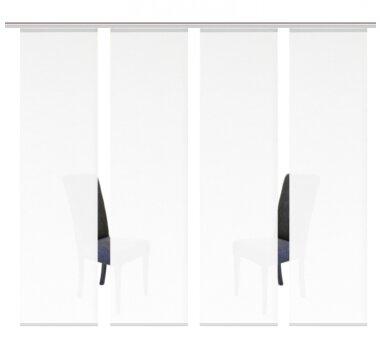 4er-Set Schiebegardine, 94601-701, blickdicht ROMA 4x uni...