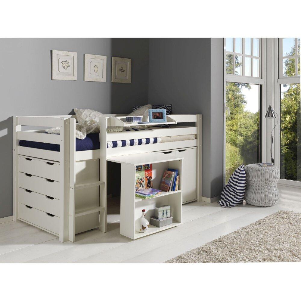 spielbett pino set schreibtisch kommode regal kaufen. Black Bedroom Furniture Sets. Home Design Ideas