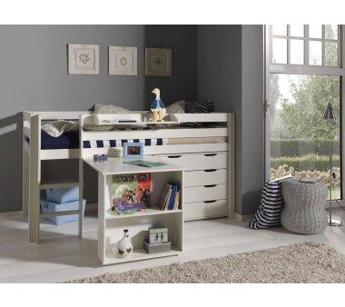 Vipack Spielbett Pino, 90 x 200 cm,  mit Schreibtisch,...