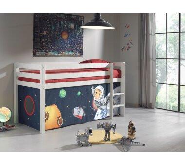 Vipack Spielbett Pino, 90 x 200 cm, mit Textilset...