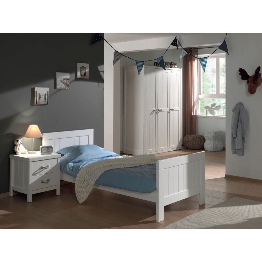 vipack kinderzimmer set lewis 3 teilig wei preiswert. Black Bedroom Furniture Sets. Home Design Ideas