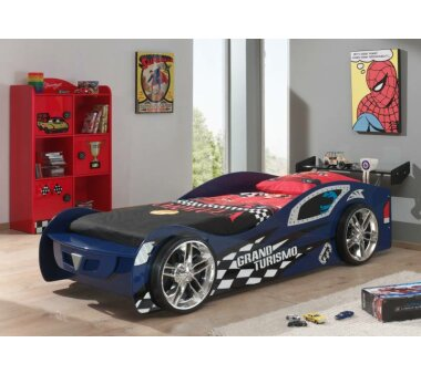 Vipack Autobett Grand Turismo, 90 x 200 cm, blau