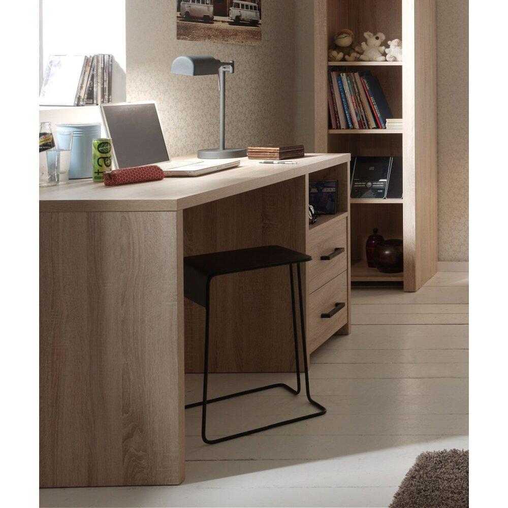 vipack schreibtisch aline sonoma eiche dekor hell. Black Bedroom Furniture Sets. Home Design Ideas